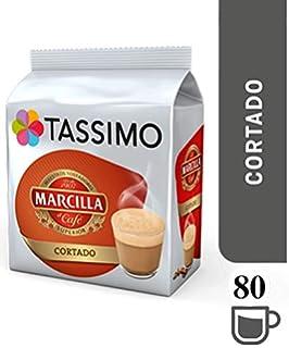 TASSIMO Marcilla Café con Leche Cápsulas de Café (Paquete de 5, 80 Bebidas)