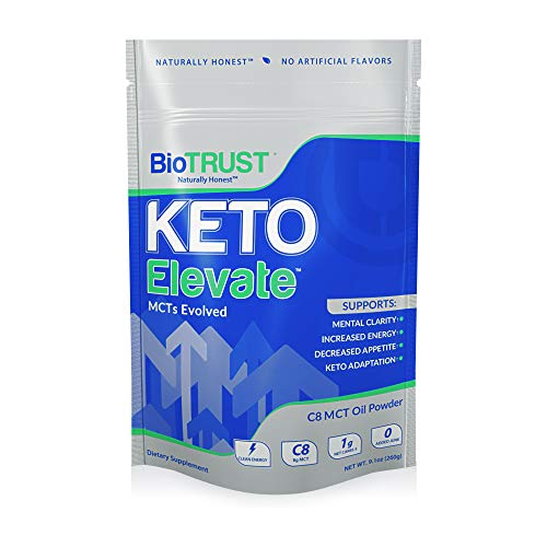 BioTrust Keto Elevate - Keto Boosting Pure C8 MCT Oil Powder | Ketogenic Diet Supplement | Keto Coffee Creamer | 100% Caprylic Acid