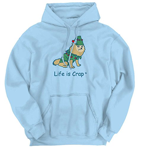 [Life Is Crap Dog Costume Good Life Funny Shirts Gift Ideas Hoodie Sweatshirt] (Hilarious Costumes Ideas)