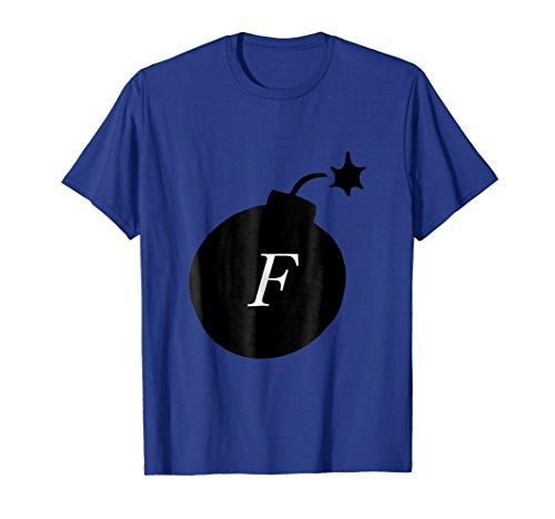 F Bomb Funny Halloween Costume Tshirt
