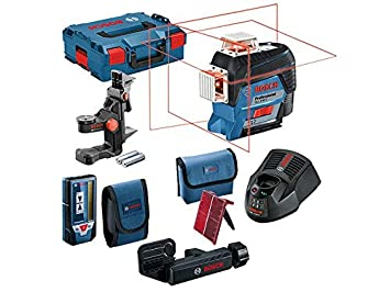 Blue Bosch Professional 0601063S00 GLL 3-80 Three-Plane Levelling and Alignment-Line Laser with Carry Case