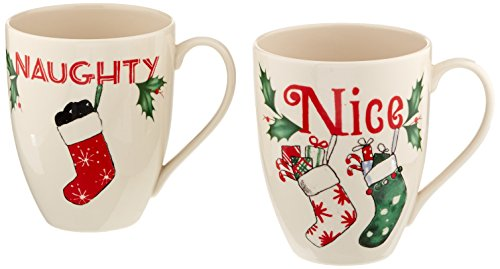 Lenox Naughty and Nice Mugs, Set of 2