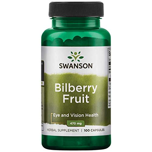 Swanson Bilberry Fruit 470 Milligrams 100 Capsules For Sale