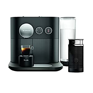 Nespresso Expert coffee machine by Breville with Aeroccino milk frother, black