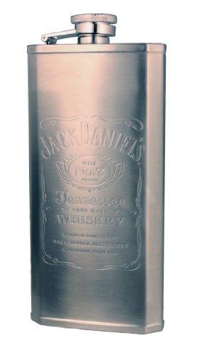Jack Daniels Silver Label (Jack Daniel's Licensed Barware Label Logo Boot Flask, 5-Ounce)