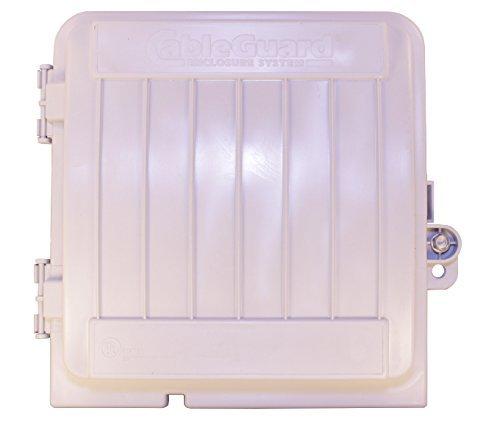 Weatherproof Cable Box - CableGuard CG-1000XL Coax Demarcation Enclosure