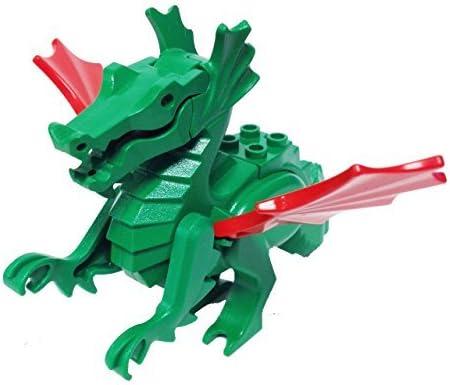 "MinifigurePacks: Lego Castle - Dragon Knights Classic Green Dragon \""MAJISTO\'s Dragon w Red Wings\"""