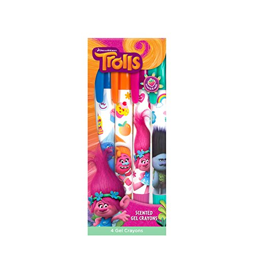 DreamWorks Trolls Crayons 4 Pack Scented