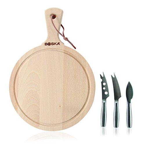 Boska Holland 358204 Amigo, Beechwood Board and Mini Set, Explore Collection Cheese Knife, Beech Wood