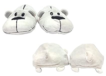 0d46b99c1f59 FlipaZoo SlipaZoos by Jay at Play (Husky to Polar  Small) - Transforming  Animal Slippers Are Two Pairs in One – Plush Comfort for Your Feet and  Twice the ...