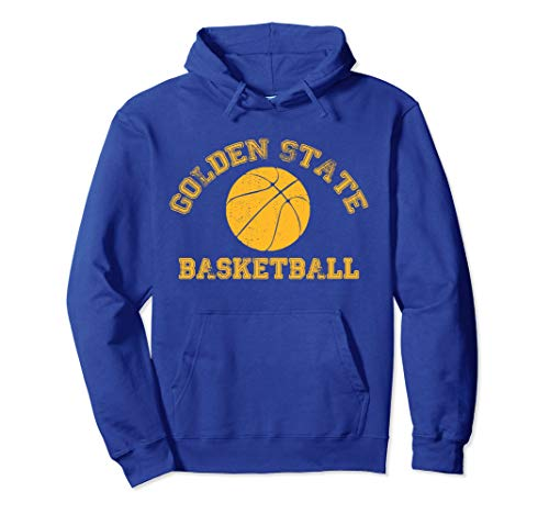 Golden State Distressed Pro Basketball Team Fan Hoodie Unise]()