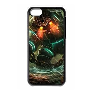 iPhone 5c Cell Phone Case Black League of legends Nautilus Custom KHJSFNUJF6579