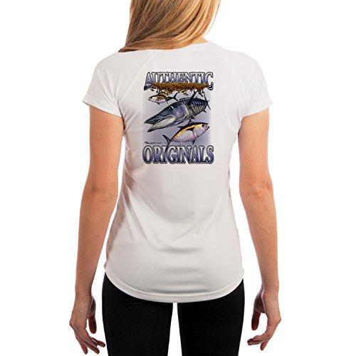 - Authentic Original Wahoo Women's UPF 50+ UV/Sun Protection Performance T-Shirt X-Large White