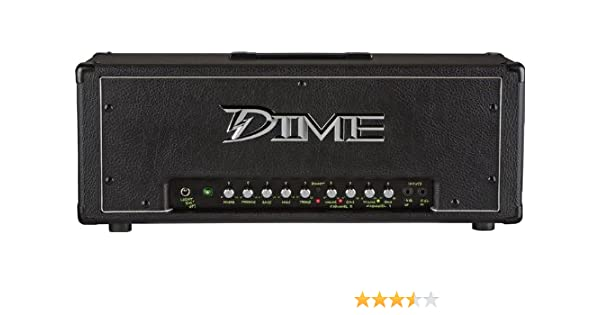 Amazon.com: Dime Amplification Dime D100 HEAD Black 120-Watt Guitar Amplifier Head: Musical Instruments