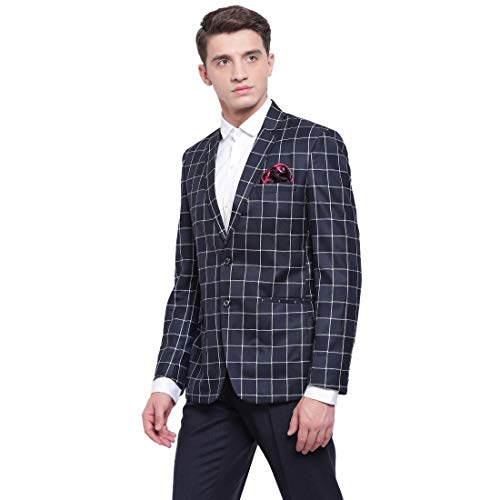 41rSQikWk0L. SS500  - MANQ Men's Slim Fit Formal/Party Check Blazer