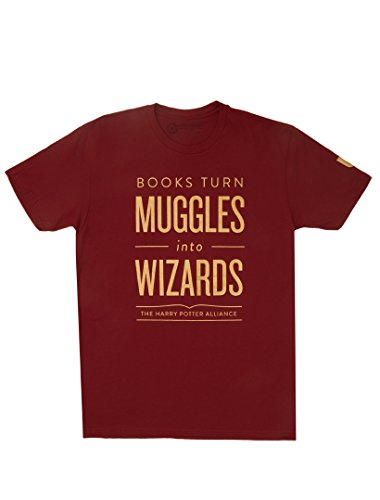 (Out of Print Books Turn Muggles Into Wizards Unisex T-Shirt (RED) X-Small)