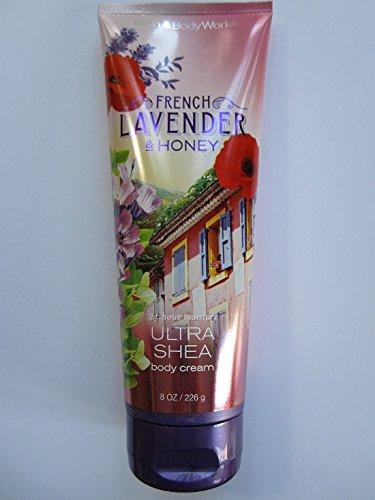 Bath & Body Works French Lavender & Honey 24 Hour Ultra Shea Body Cream 8 (Body Bath French Lavender)