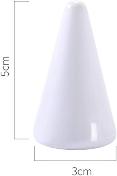 TOPBATHY Lot de 2 Supports en c/éramique en Forme de c/ône en Porcelaine