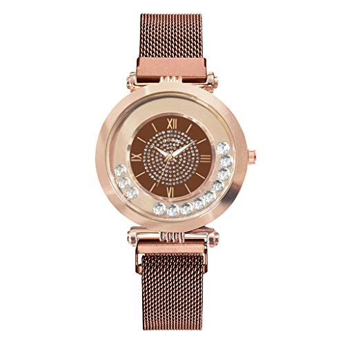 Quartz Stainless Steel and Metal Casual Watch,Londony Women's Stainless Steel Multifunction Quartz Watch