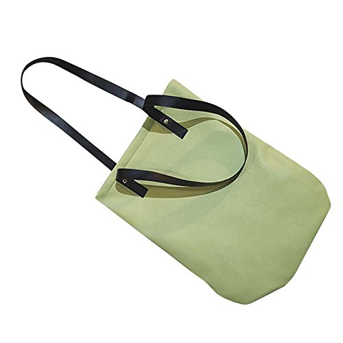 Bolso Bandolera Bolsa de hombro de Piel XXL Grande Azul para Mujer y Shoppers por ESAILQ C Verde