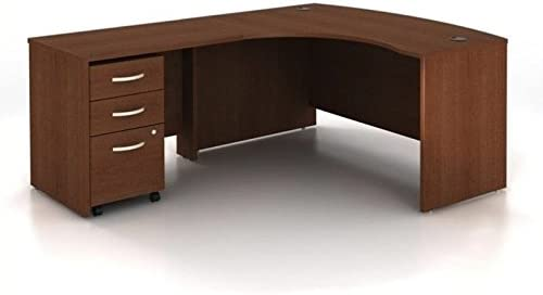 Bush Business Furniture Series C 3-Piece Left-Hand Computer Bow Desk