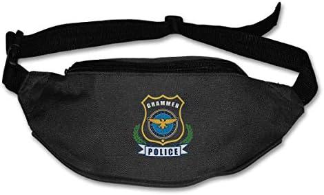文法警察ユニセックス屋外ファニーパックバッグベルトバッグスポーツウエストパック