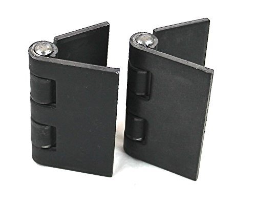 "Bobco Metals Heavy Duty Weldable Pair 4"" x 4"" Gate Hinges-Steel Butt Hinge/HVY Gates Doors by Bobco Metals"