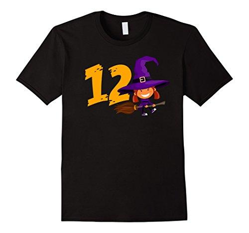 Mens 12th Birthday Cute Witch Girl T-Shirt Born In 2005 2XL Black
