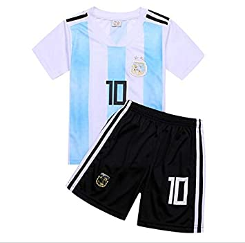 43484e6f4a1 2018 World Cup Children Football Jersey Argentina Team No.10 Messi Football  suits T-