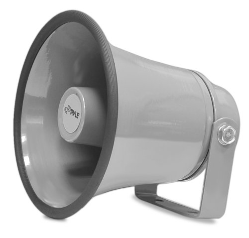 "Indoor / Outdoor PA Horn Speaker - 6.3"" Portable PA Speaker with 8 Ohms Impedance & 25 Watts Peak Power - Mounting Bracket & Hardware Included - Pyle PHSP6K - Peak Pa Speaker"
