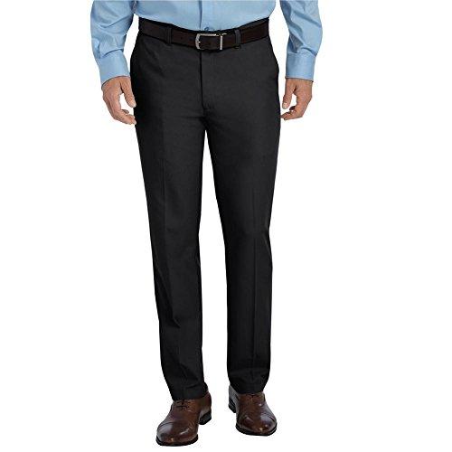 Dickies Men's Flat Front Microfiber Pant, Black, 36 x 30 (Microfiber Pants)