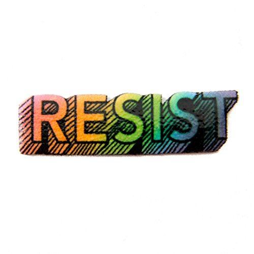 Rainbow LGBT Pride Resist Lapel Pin
