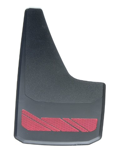 RoadSport 4766 'B' Series Universal Fit Premiere Splash Guard (Black with Red Prism; 15-3/4″ Height x 8-7/8″ Wide)
