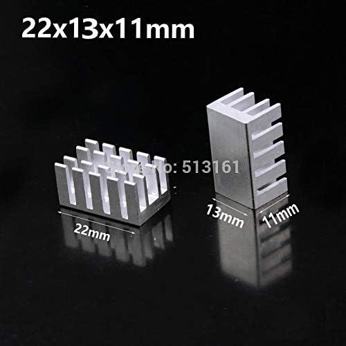 20 Pieces Gdstime Aluminum Cooling Heat sink Chip CPU GPU VGA RAM LED IC Heatsink Radiator Cooler 22x13x11mm