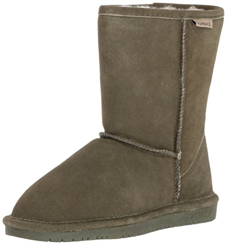 BEARPAW Women's Emma Short Winter Boot, Olive, 11 M US by BEARPAW