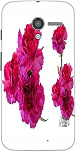 Snoogg Beautiful Flowers Designer Protective Back Case Cover For Moto-X