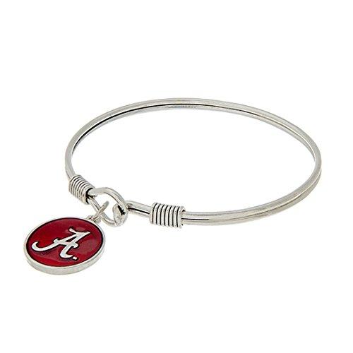 Big Al Alabama Costume (Alabama Crimson Tide Silver Tone Latch Bangle Bracelet)