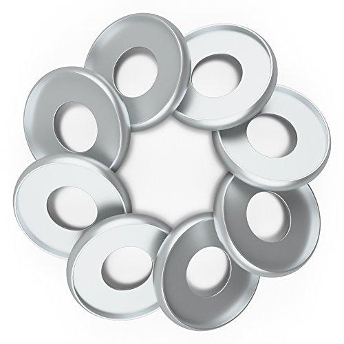 (Discagenda Aluminum Disc-Binding Discs 33mm 1.3in 8 Piece Set Silver)