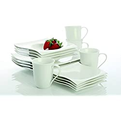 Maxwell and Williams Basics Motion 16-Piece Dinner Set, White
