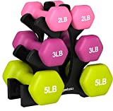 AmazonBasics Neoprene Dumbbell Hand Weights, 10