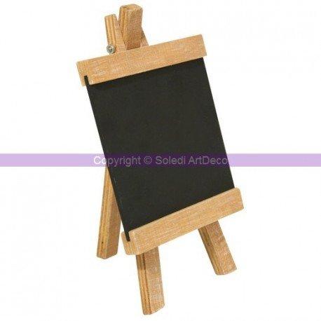 Rayher Mini Chevalet de Table en Bois avec Tableau Noir Ardoise ...