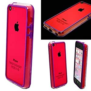 AES - Thin Transparent Shell Material PC for iPhone 5C (Assorted Colors) , Red