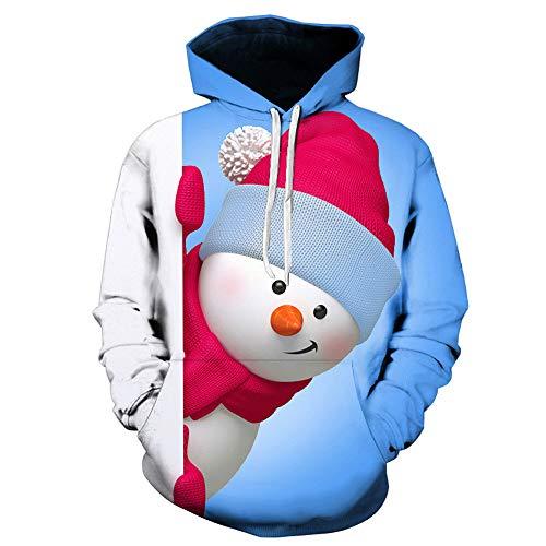 Pullover Koly Stampata Con Blu Felpe Lunghe Maniche Sportivo Invernale Uomo Da A Ragazzo Cappuccio Natale 3d Felpa Cappotto ORq8ngI