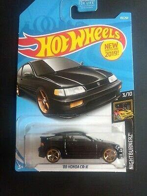 Wheels Hot Auto (2019 Hot Wheels '88 CR-X Black)