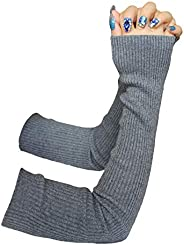 Share Maison Women's Winter Fingerless Cashmere Wool Gloves Long Arm War