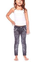 Crush Toddler Crush Girls Faded Design Seamless Leggings Pants Size 2T - 4T Black