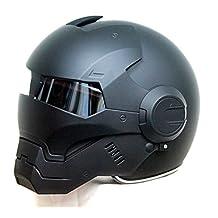 Generic Masei 610 AtomicMan Motorcycle DOT Helmet S M L XL(Black)