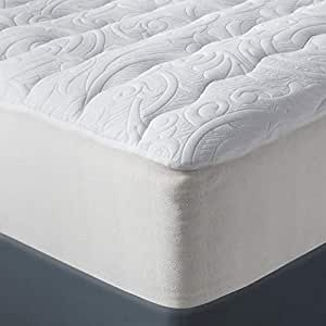Amazon Com Fieldcrest Luxury Plush Mattress Pad Queen