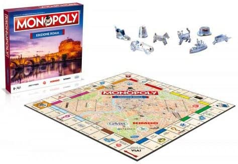 Winning Moves Monopoly - Citta Di Roma Merchandising Ufficiale: Amazon.es: Juguetes y juegos
