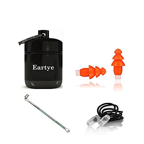 Earplugs For Swimming With Cords + Sound Blocking for Daily Easily Reduce a Noise Level When You Need Eartye Reusable Noise Cancelling EarPlugs are For Men and Women